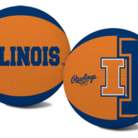 "Rawlings NCAA Illinois Fighting Illini Youth-Size Basketball ""Alley Oop"""