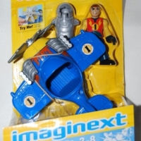 Fisher Price IMAGINEXT SKY RACERS MINI BLUE AIRPLANE