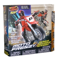 AIR HOGS MOTO FRENZY MINI STUNT BIKE MOTORCYCLE R/C RED