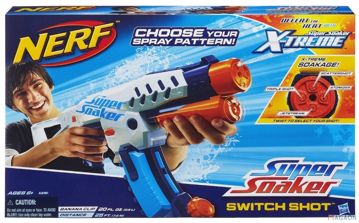 Image is loading New-NERF-Super-Soaker-ALPHAFIRE-Blaster-Mini-Water-