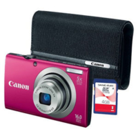 Canon PowerShot A2300 16MP Digital Camera Bundle