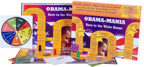 OBAMA MANIA PRESIDENT ELECTION BOARD GAME COLLECTOR RACE TO THE WHITE HOUSE