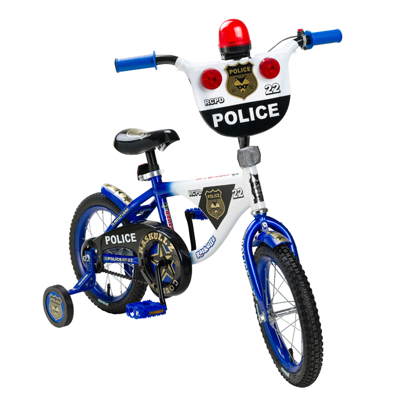 14 Quot Raskulls Police Bike 3 Bicycle Boys With Sirens