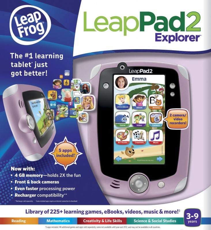 The LeapFrog Platinum is reminiscent of all LeapPad tablet systems and is able to play all game cartridges from previous LeapPads. It includes a D-Pad for different gaming options. While both tablets include slightly different features and look a bit different, both tablets include educational content for children monitored by developmental.