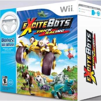 Excitebots: Trick Racing Video Game WII INCLUDES WII WHEEL