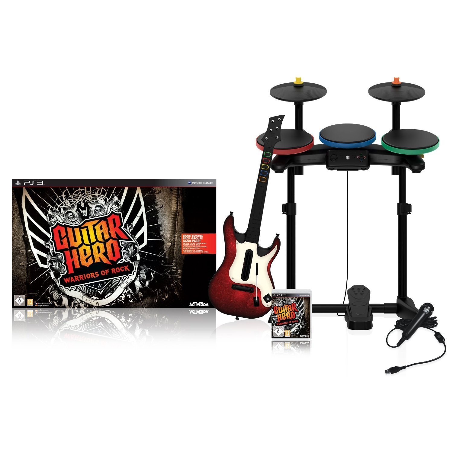 playstation 3 ps3 guitar hero warriors of rock band. Black Bedroom Furniture Sets. Home Design Ideas