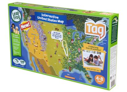 LeapFrog TAG LeapReader Interactive United States Map Puzzle - GamesPlus