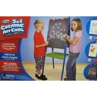 Toysroseart 3 In 1 Creative Art Easel Dry Erase And Chalkboard Add To Wishlist Loading