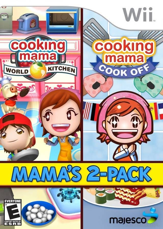 cooking mama world kitchen cook off mama s 2 pack nintendo wii