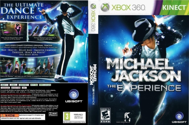 Michael Jackson The Experience DANCE for XBOX 360 KINECT