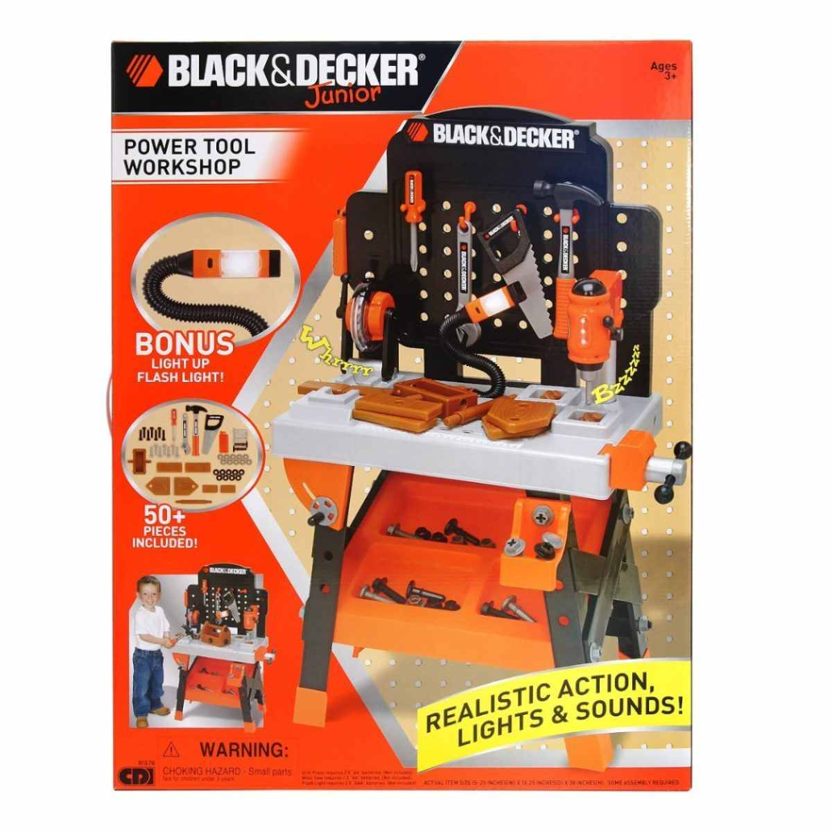 f8bbd9acb Decker Power Tool Junior Workshop 50 Accessories TOOLS SAW LIGHTS SOUNDS.  🔍. Add to Wishlist loading