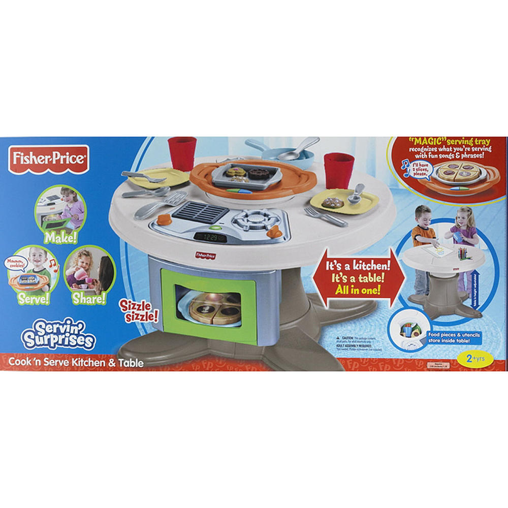Fisher-Price Servin\' Surprises Cook \'n Serve Kitchen and Table Set