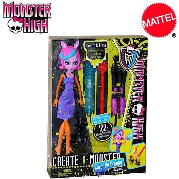 Monster High Create A Monster Color Me Creepy Werewolf