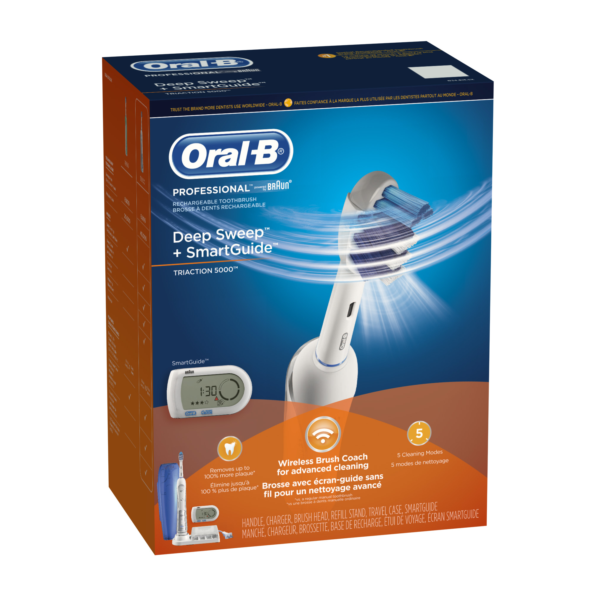 Oral-B Professional Deep Sweep + SmartGuide 5000 Rechargeable Electric Toothbrush - GamesPlus