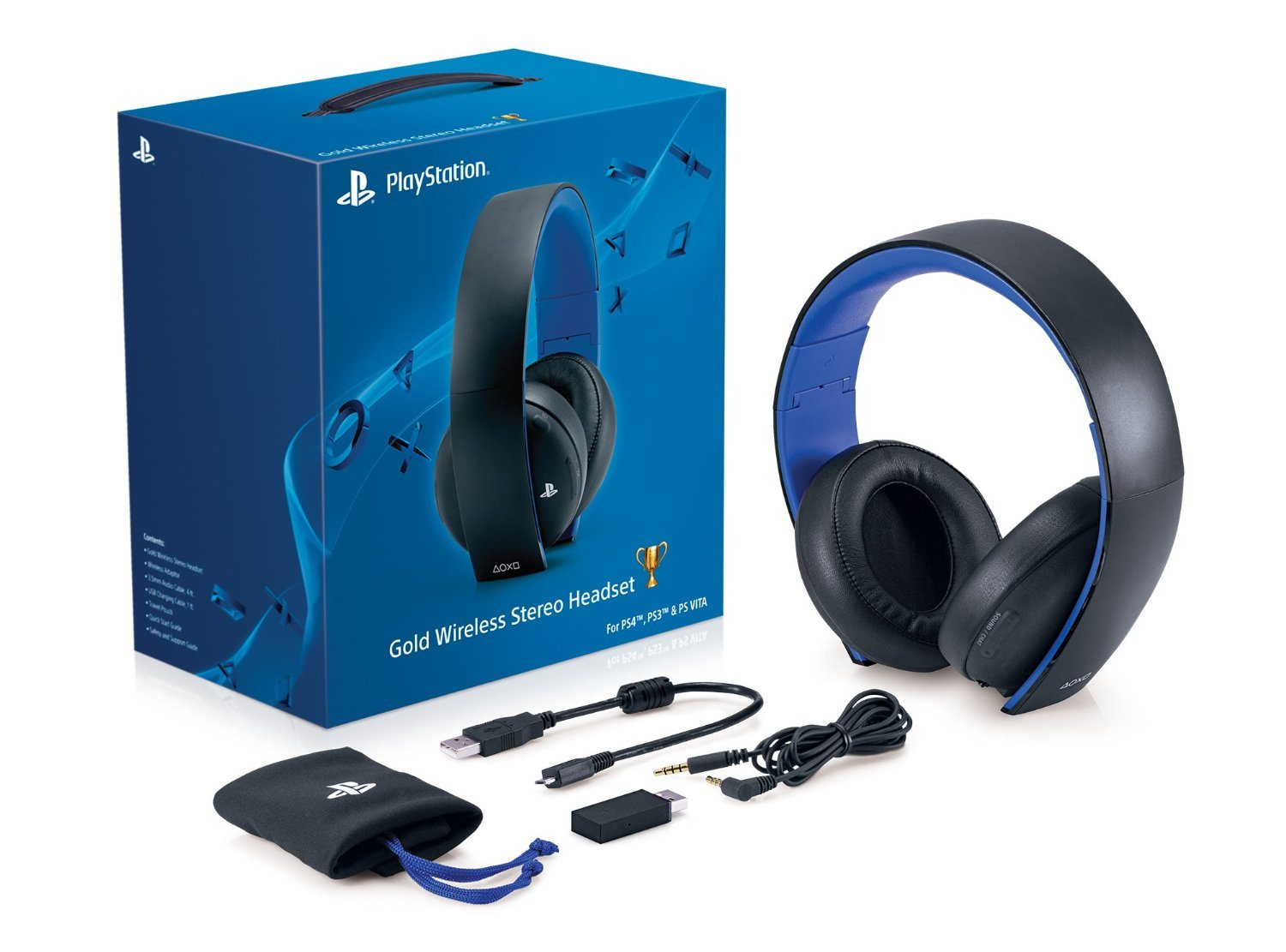 Sony - Gold Wireless Stereo Headset for PlayStation PS4 PS3 & VITA ...