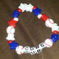 Cubs Beaded Bracelet Coco Creations Designs By Abby!