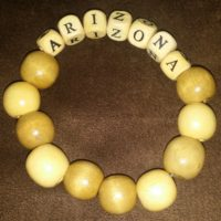 ARIZONA Beaded Bracelet Wood Coco Creations Designs By Abby!