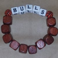 BULLS Beaded Bracelet Wood Coco Creations Designs By Abby!