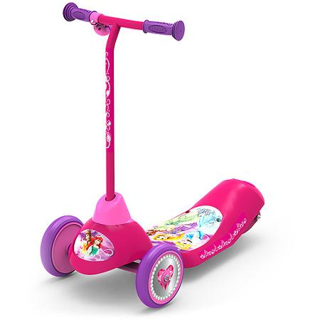 Disney princess safe start 3 wheel electric scooter for Motorized scooter disney world