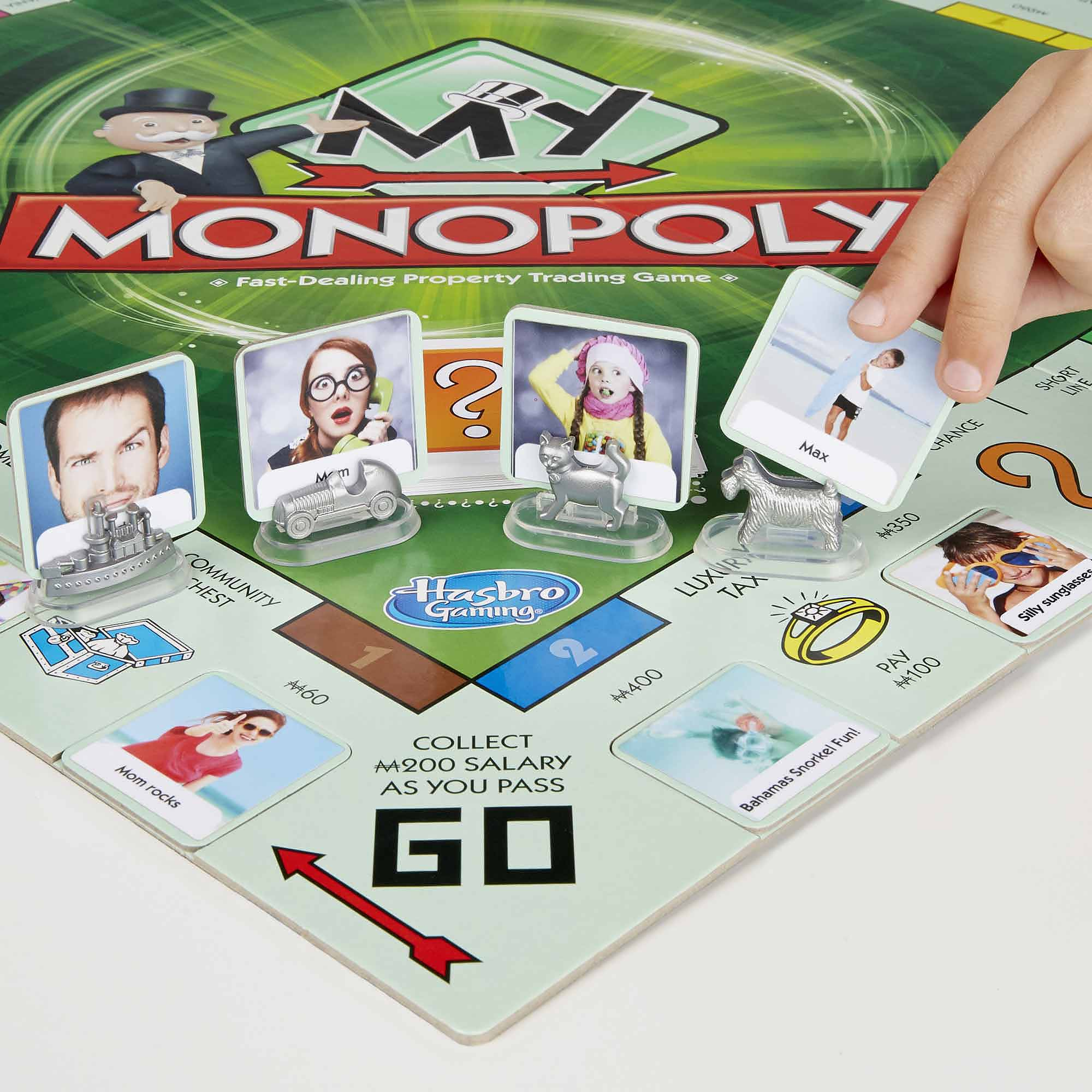 Hasbro my monopoly personalized board game for Custom monopoly board template