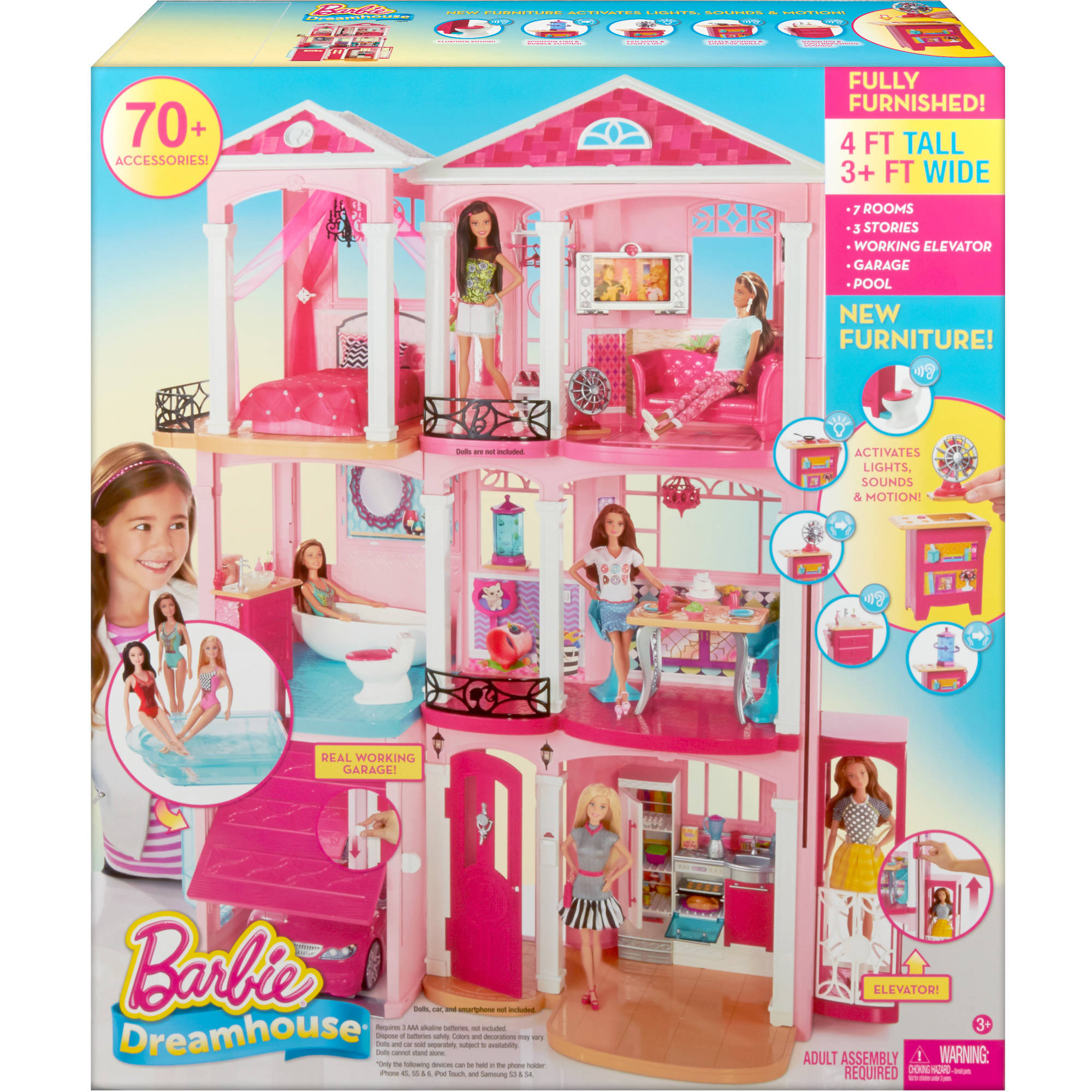 barbie dreamhouse doll house. Black Bedroom Furniture Sets. Home Design Ideas