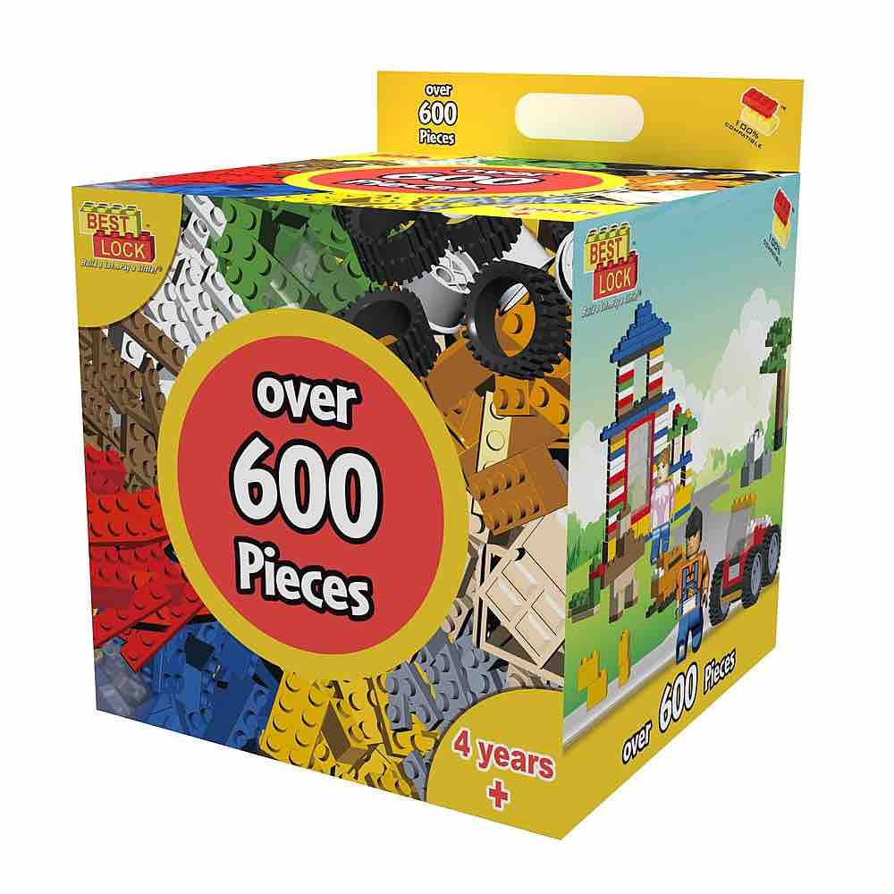 600-Piece Building Construction Kit Lego Type blocks by ...