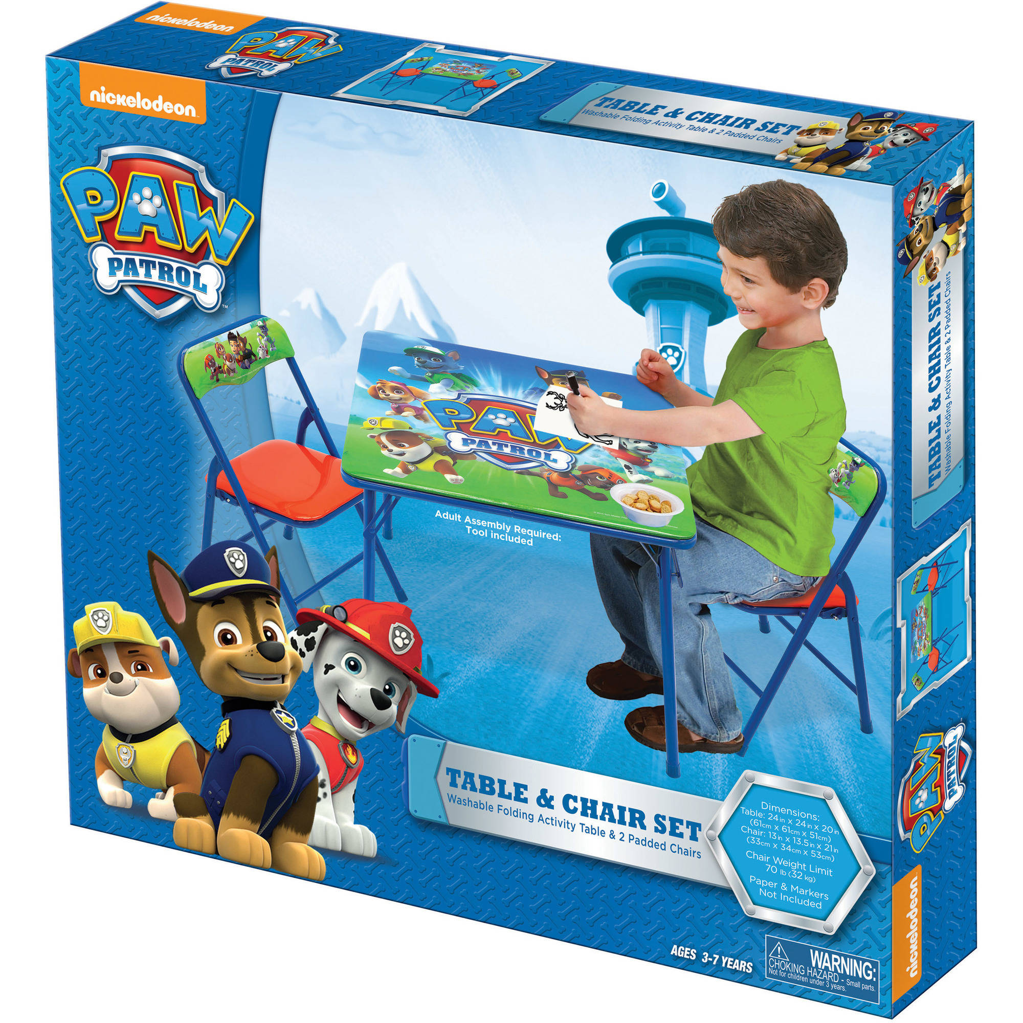 Paw Patrol folding Table and Chairs Set - GamesPlus