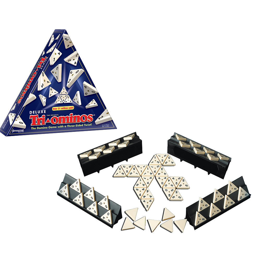 Deluxe Triominos Three Sided Dominoes Game