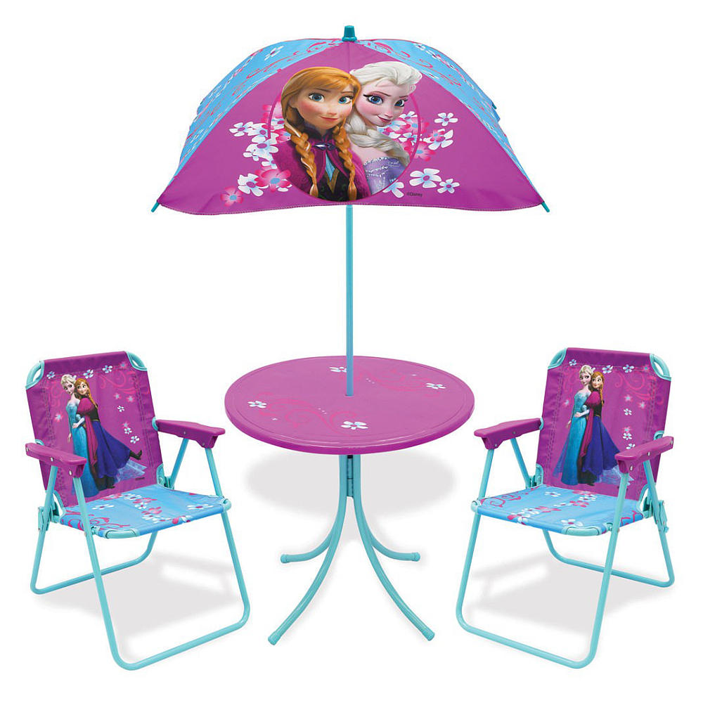 Terrific Disney Frozen Patio Table Chairs And Umbrella Set Inzonedesignstudio Interior Chair Design Inzonedesignstudiocom