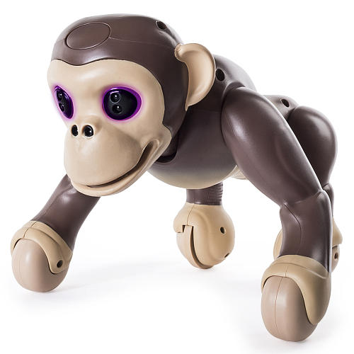 Zoomer Chimp Interactive Robot with Voice Command Movement and Sensors