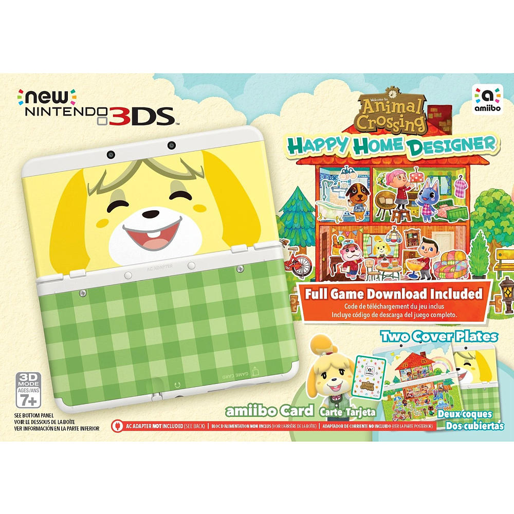 New Nintendo 3ds Animal Crossing Happy Home Designer Bundle With Games Charger