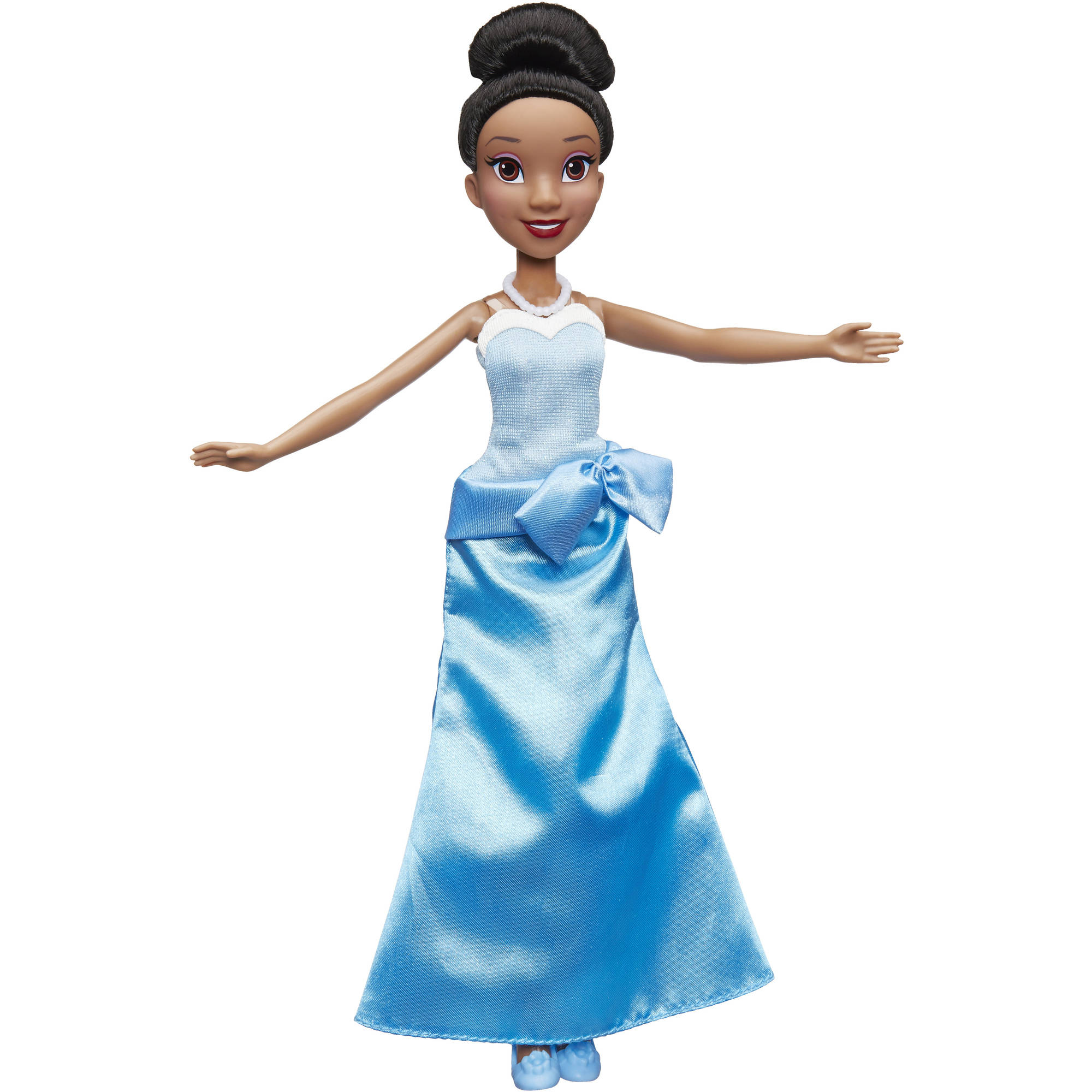 Disney Princess Tiana Doll in Blue Ball Gown