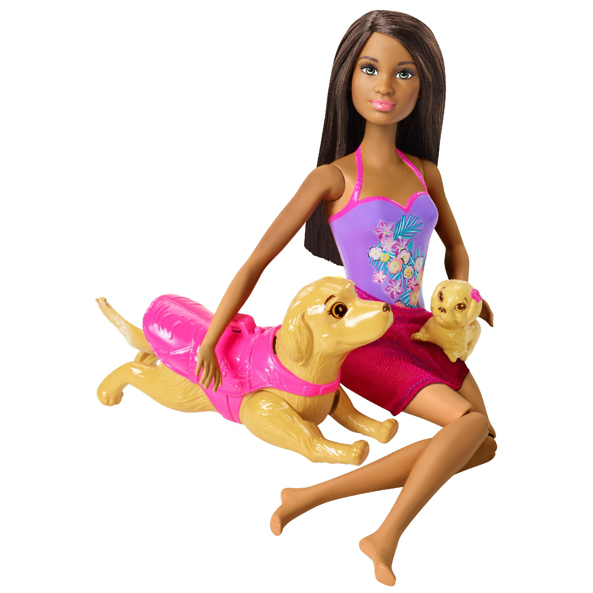 Barbie Swimmin 39 Pup Pool Doll And Puppy Playset