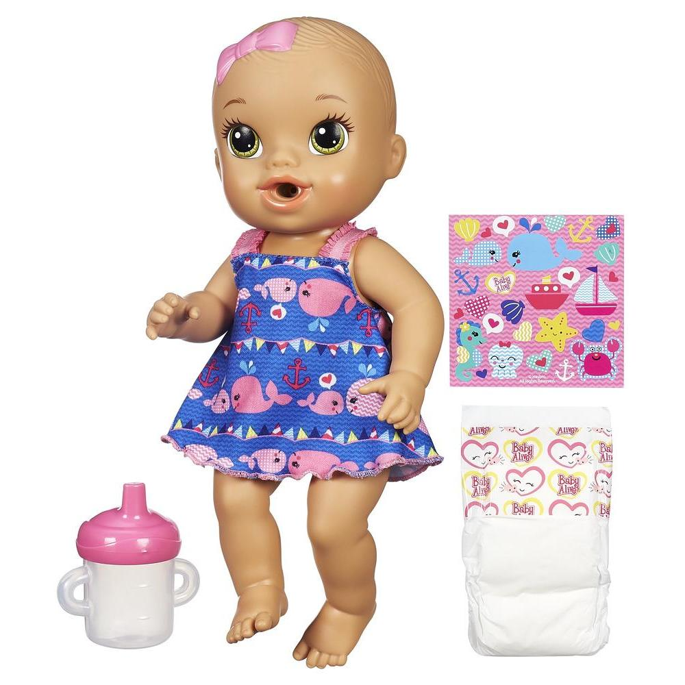 Explore all your favorite Baby Alive dolls in the shop. Find realistic baby dolls that drink and wet, eat and poop, and even talk! You can also find food and diapers for your baby, as well as any other baby doll accessories you might need!
