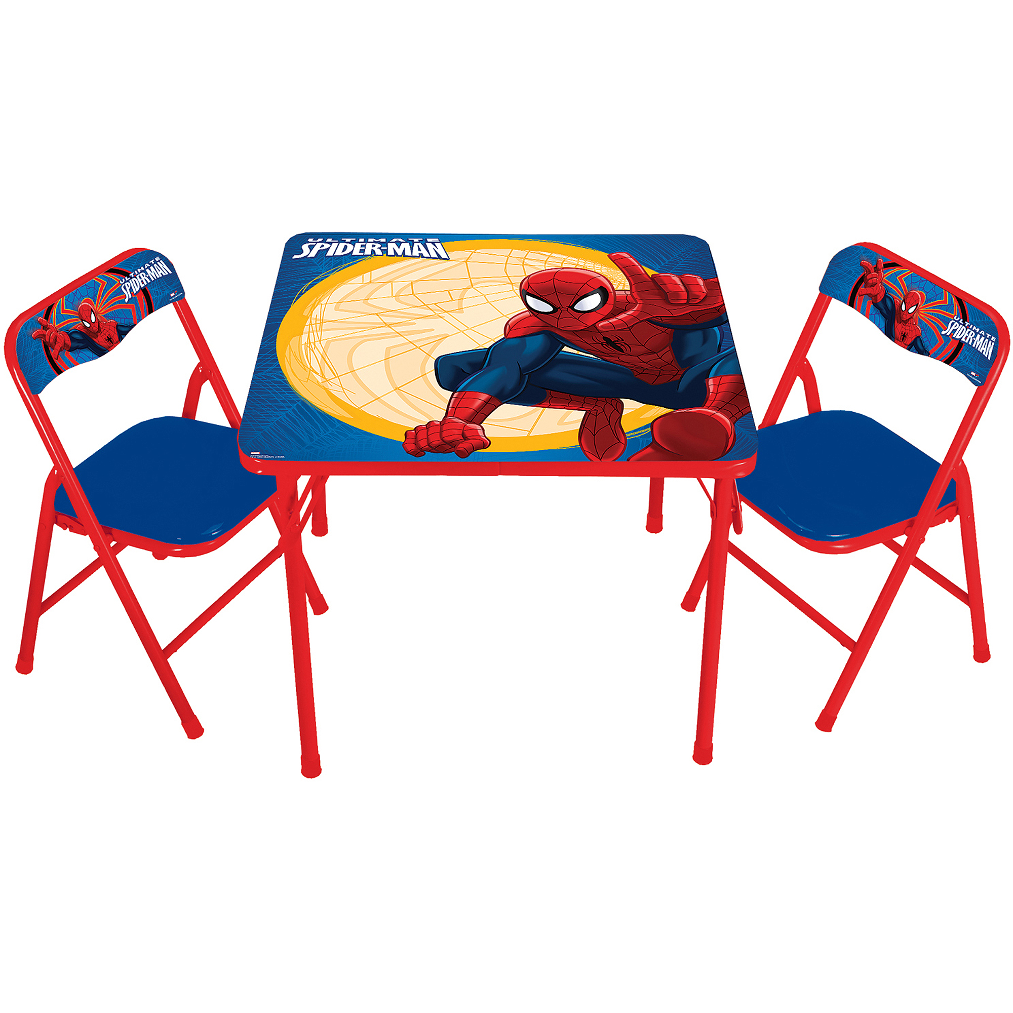 Marvel Spider-Man Erasable Activity Table Set with 3 Markers
