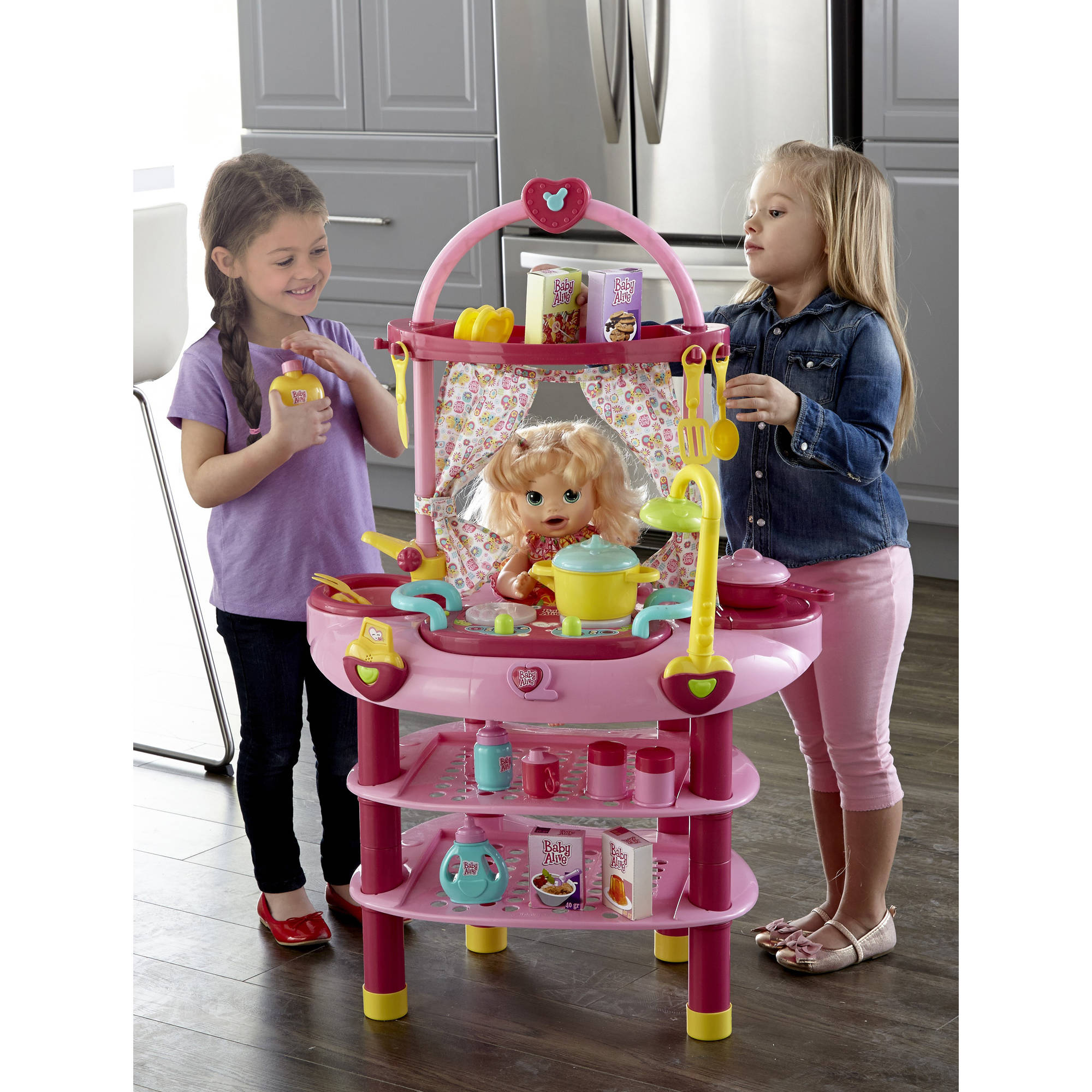 Baby alive doll 3 in 1 cook 39 n care kitchen set for Kitchen set for babies