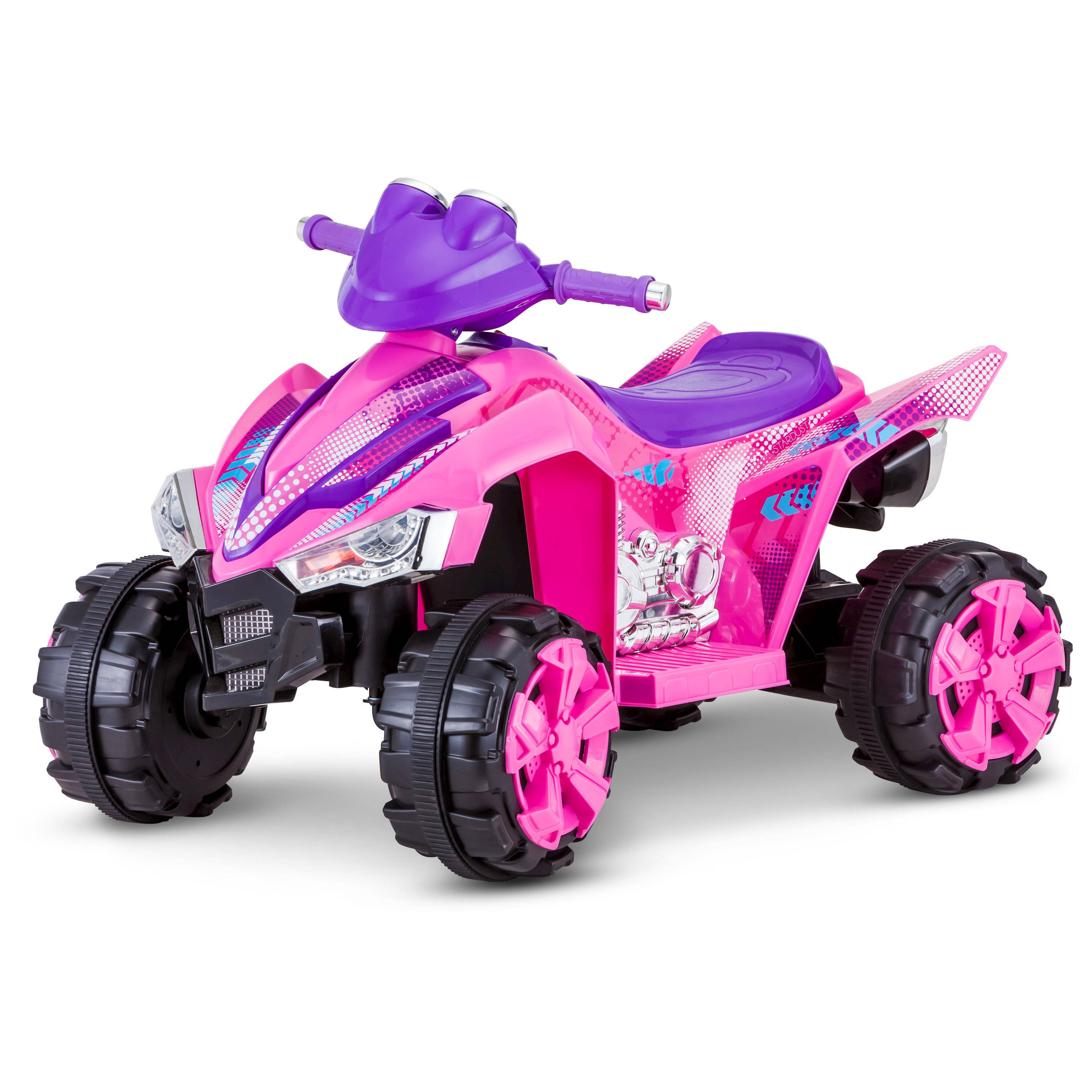 Kid trax stardust 6v electric ride on atv pink for Motorized atv for toddlers