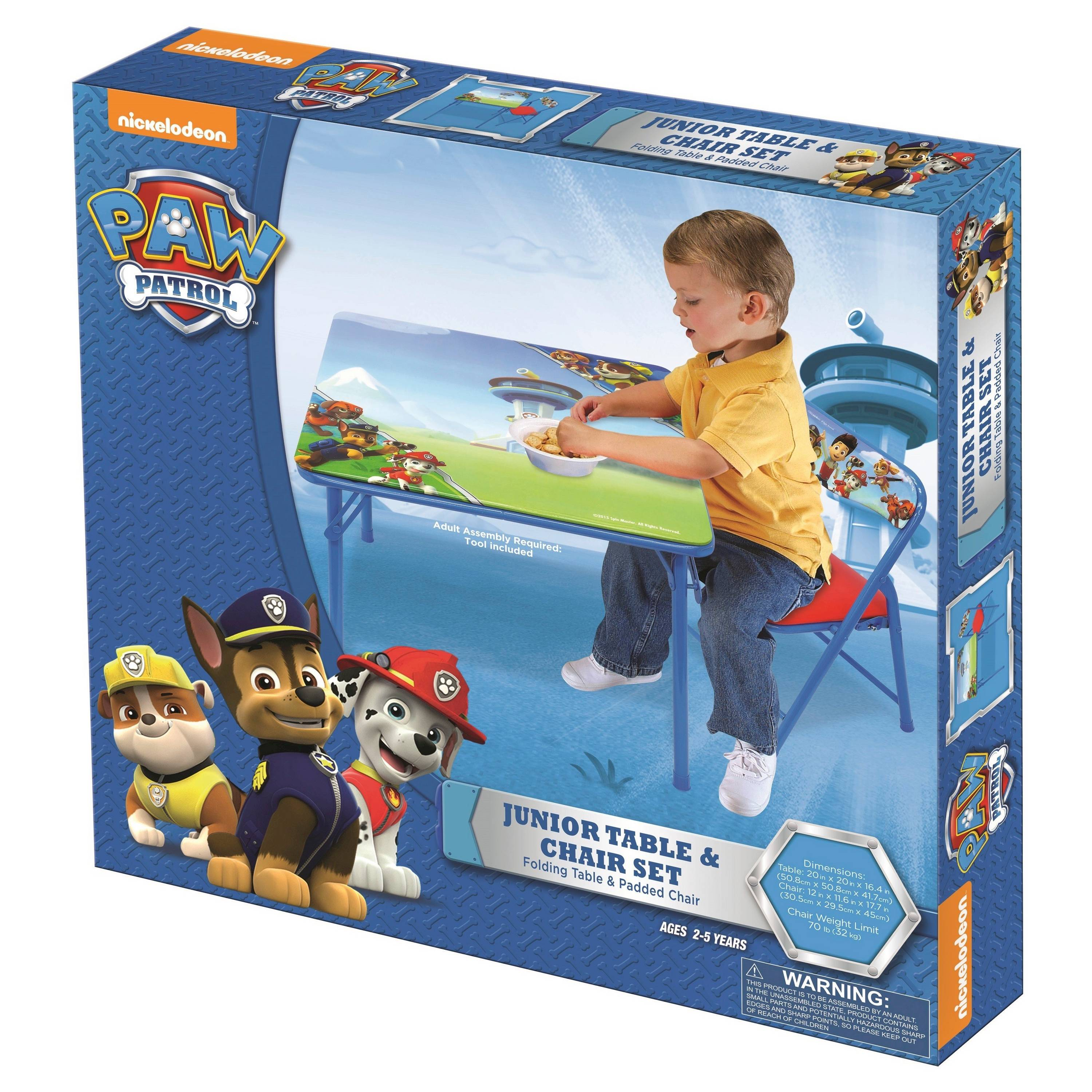Nickelodeon Paw Patrol Junior Table And Padded Chair Set