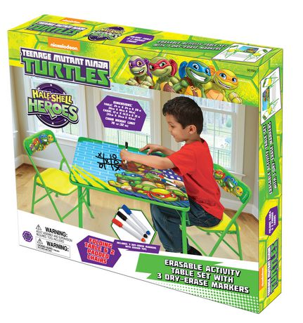 Nickelodeon Teenage Mutant Ninja Turtles Half Shell Heroes Erasable Activity Table Set with 3 Markers  sc 1 st  Games Plus Inc. & Nickelodeon Teenage Mutant Ninja Turtles Half Shell Heroes Erasable ...