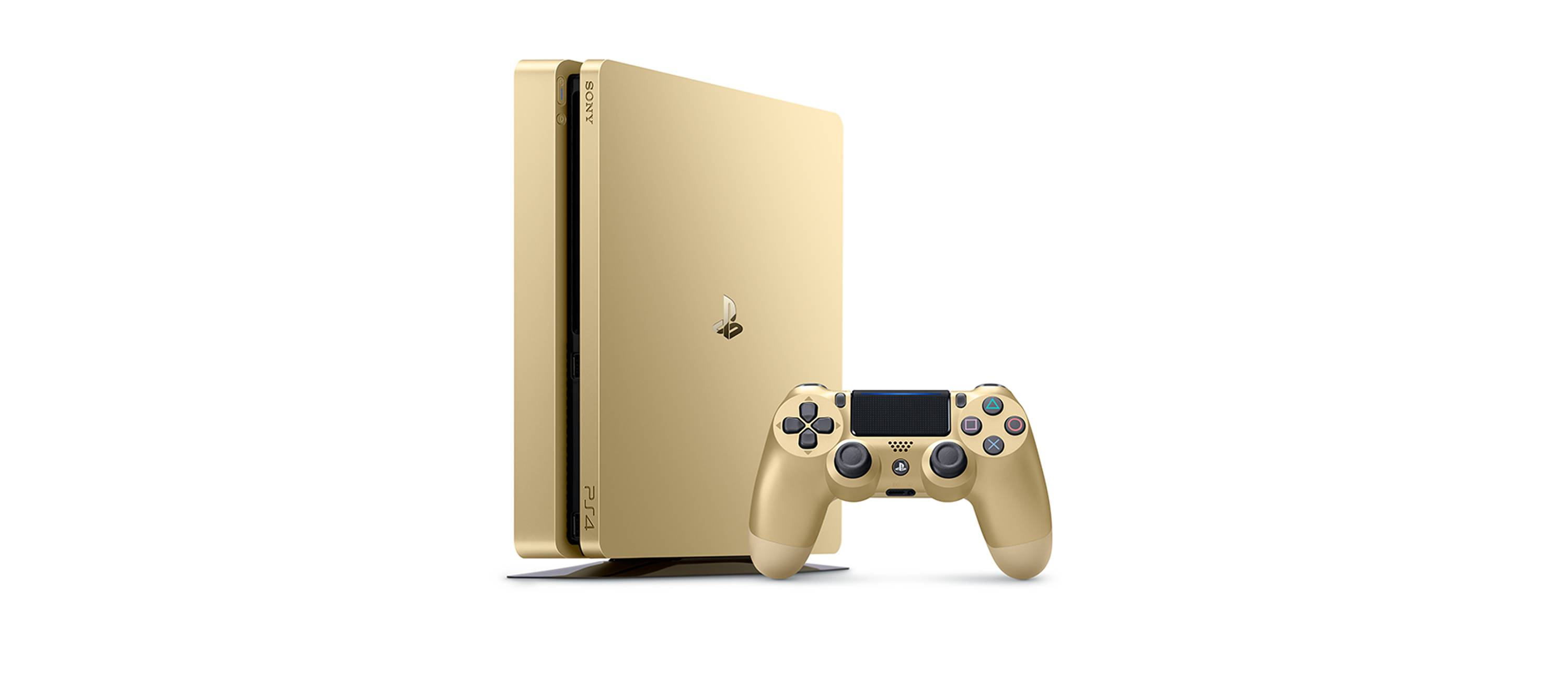 Playstation 4 1tb limited edition gold console 3002191 ps4 - Ps3 limited edition console ...