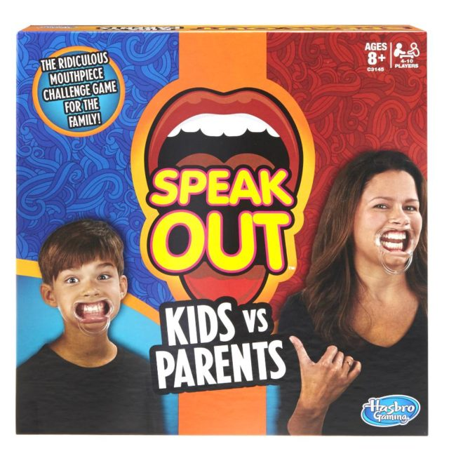 Hasbro Speak Out Kids Vs Parents The Ridiculous Mouthpiece Challenge Game