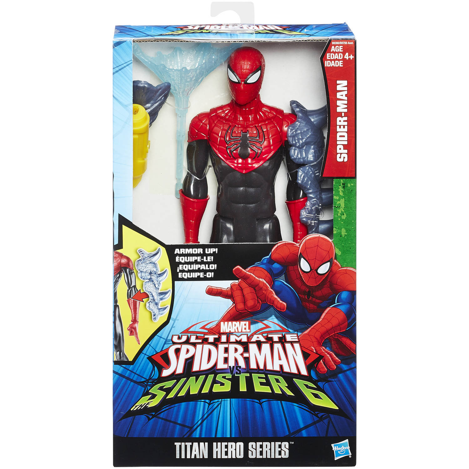 spider man titan hero series with gear 12 inch action figure