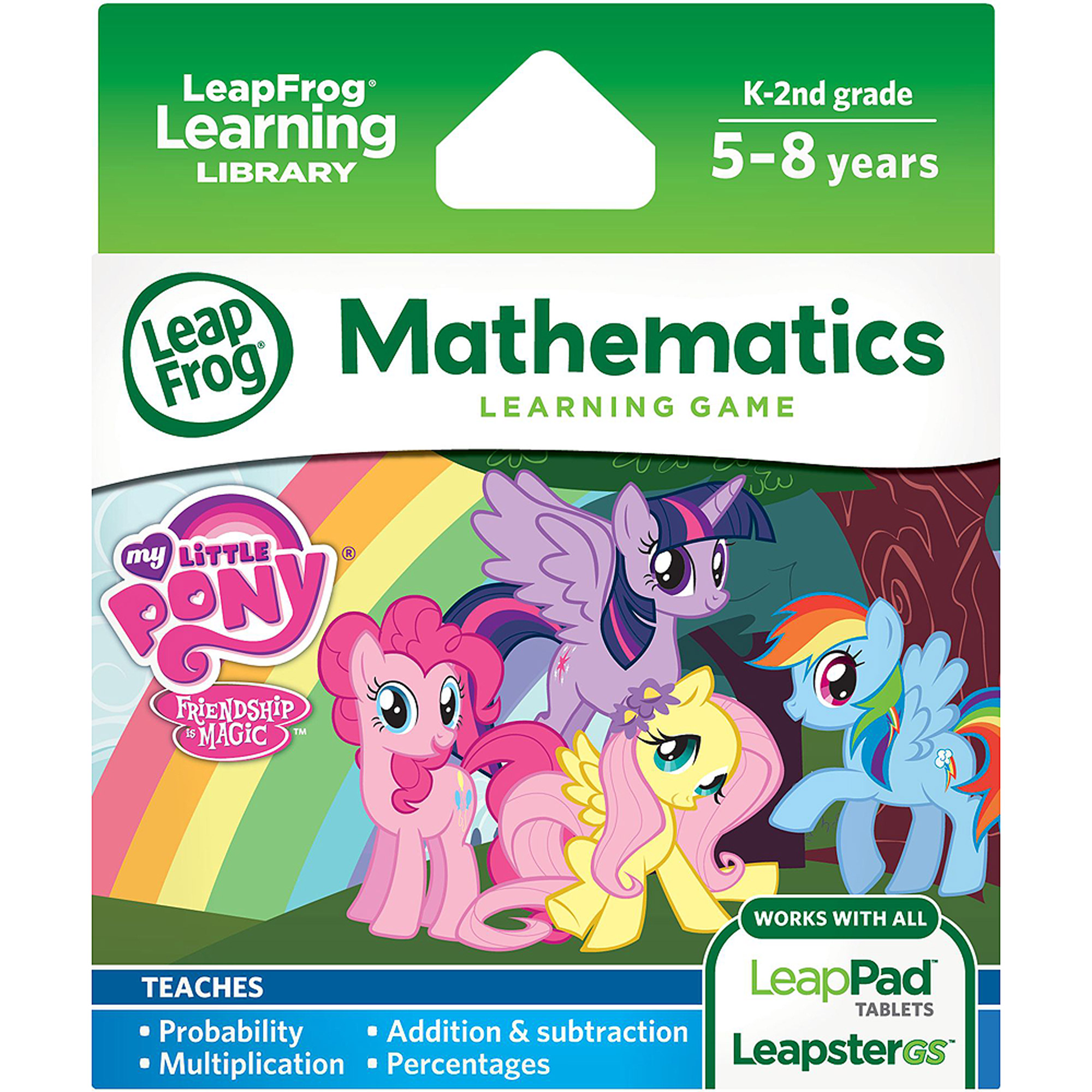 leapfrog hasbro my little pony friendship is magic learning math