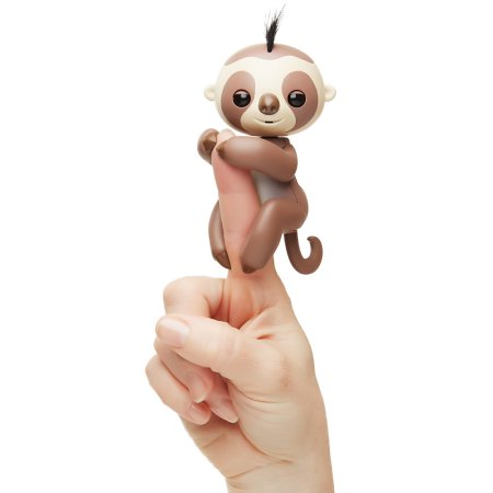 Fingerlings Kingsley The Interactive Baby Sloth Brown By WowWee