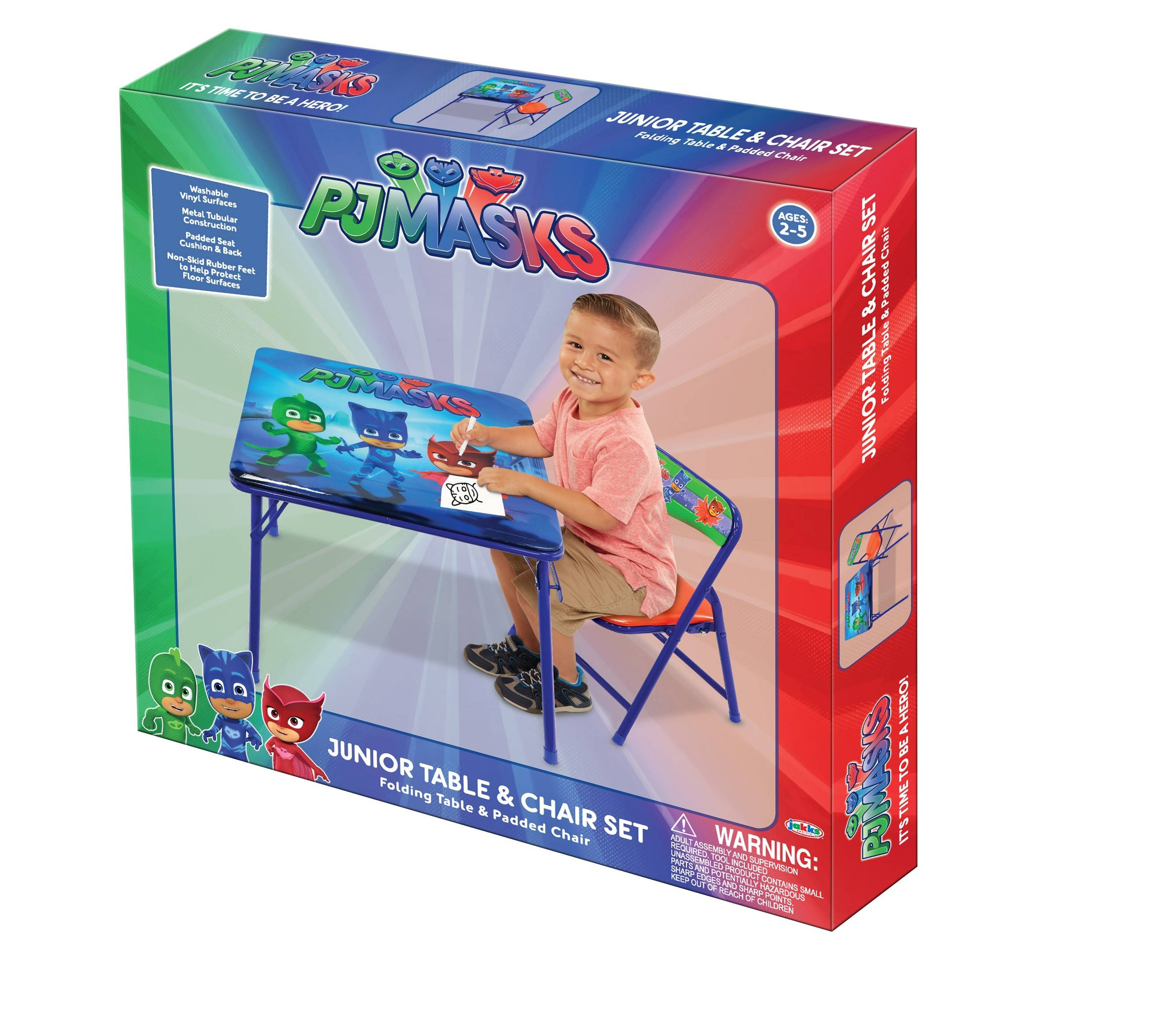 PJ Masks Activity Table Set with Padded Chair
