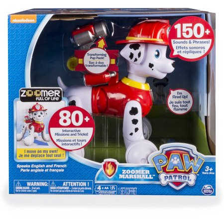 Nick Jr. PAW Patrol Zoomer Marshall Interactive Robot Dog Movement ...
