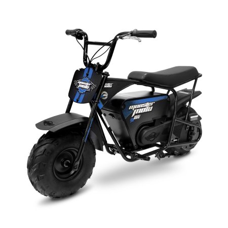 Monster Moto Electric Mini Bike 1000 Watts – Black with Blue Decals